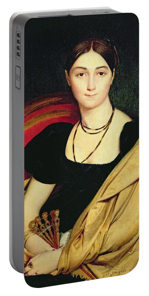 Madame Portable Battery Charger featuring the painting Madame Devaucay by Jean Auguste Dominique Ingres