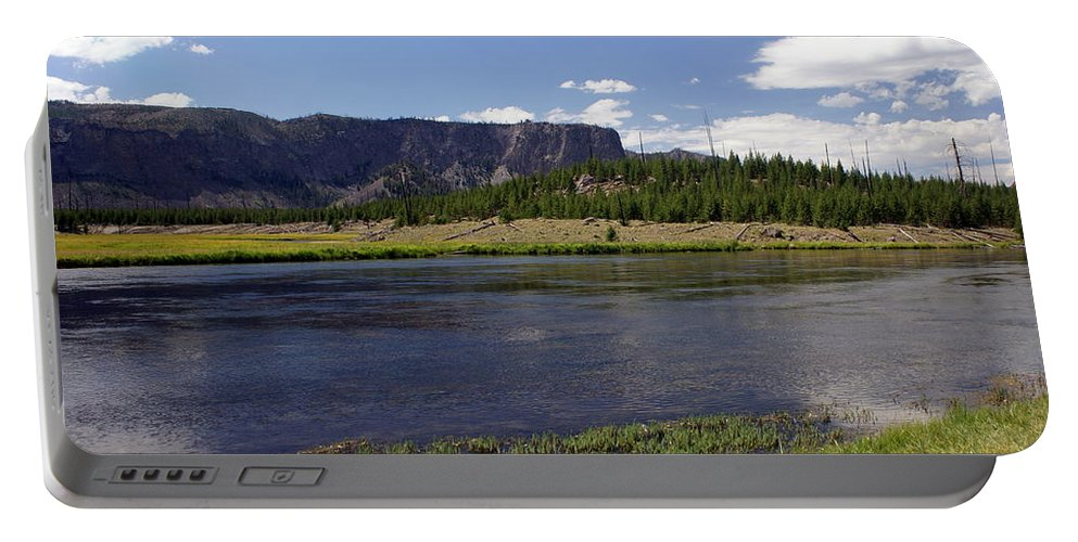 Madison River Portable Battery Charger featuring the photograph Madison River Valley by Marty Koch