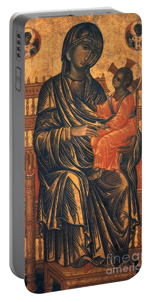 13th Century Portable Battery Charger featuring the photograph Madonna Icon, 13th Century by Granger