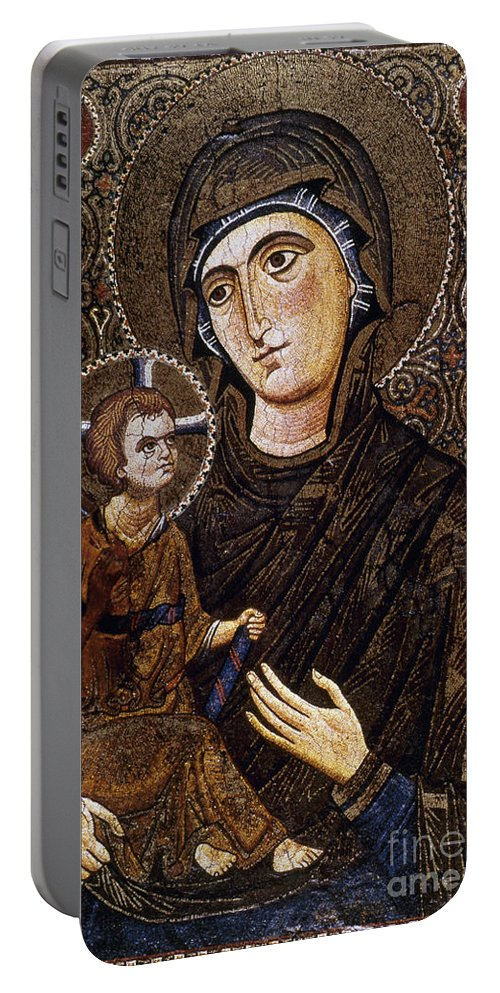 13th Century Portable Battery Charger featuring the photograph Madonna Icon by Granger