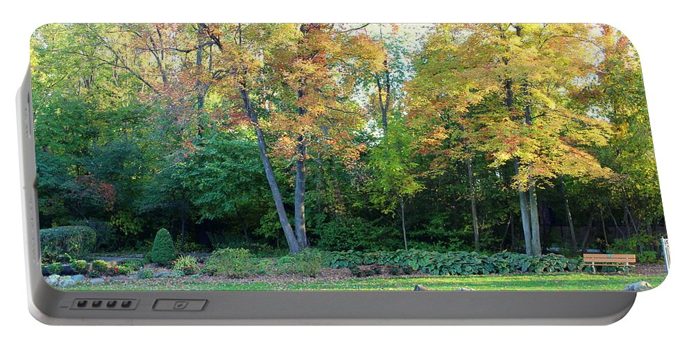 Fall Portable Battery Charger featuring the photograph Mae Stecker Park In Shelby Township Michigan by Anita Hiltz