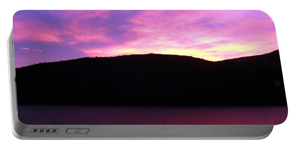 Magenta Sky Portable Battery Charger featuring the photograph Magenta Sky by Barbara Griffin