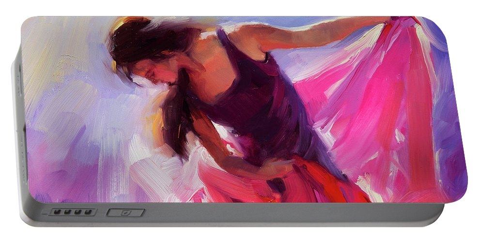 Woman Portable Battery Charger featuring the painting Magenta by Steve Henderson