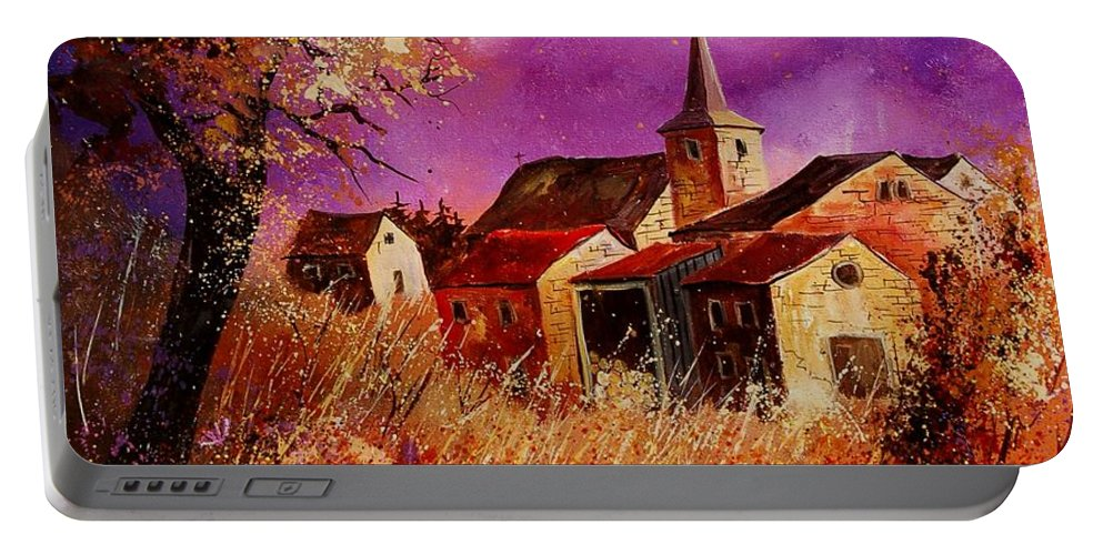 Landscape Portable Battery Charger featuring the painting Magic Autumn by Pol Ledent