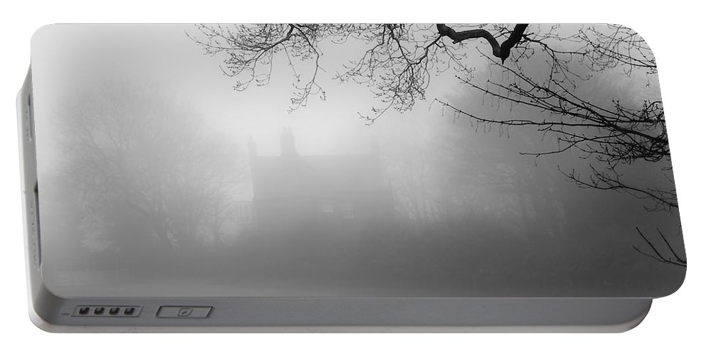 Abstract Portable Battery Charger featuring the photograph Magic Fog by Svetlana Sewell