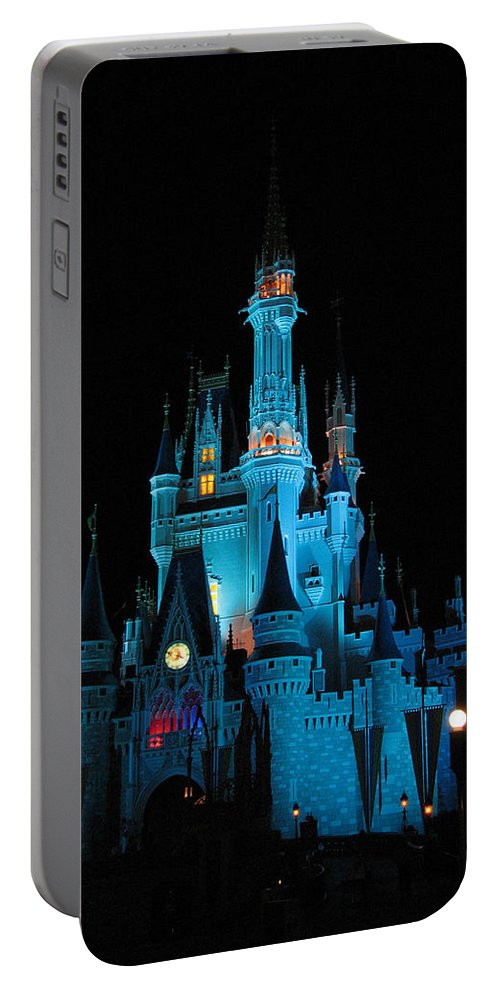Disney Portable Battery Charger featuring the photograph Magic Kingdom by Stacey May