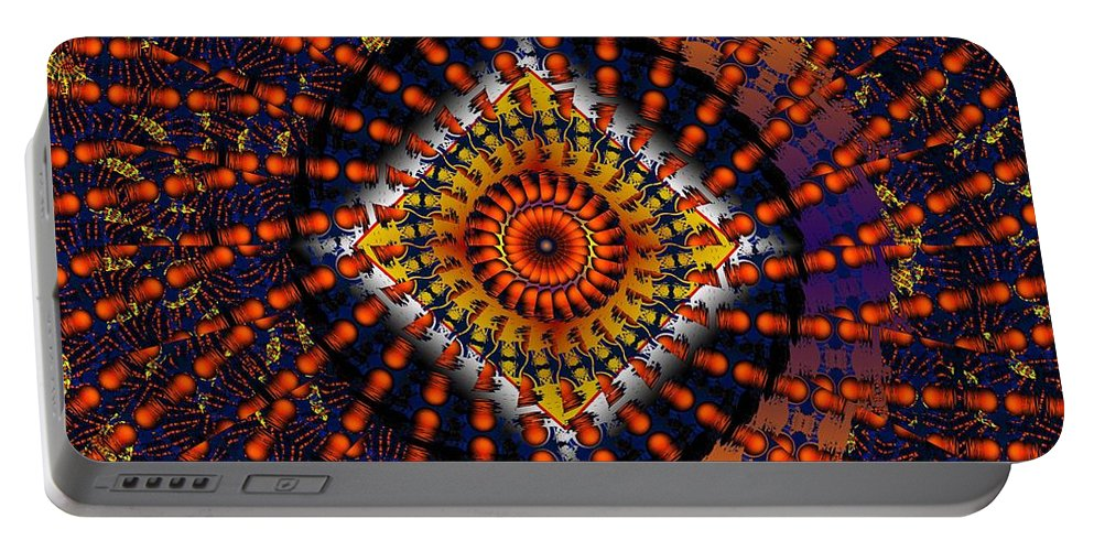 Psychadelic Portable Battery Charger featuring the digital art Magic Tricks by Robert Orinski