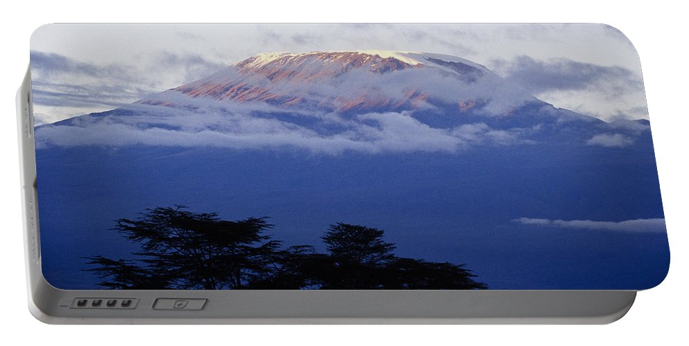 Africa Portable Battery Charger featuring the photograph Magnificent Mount Kilimanjaro by Michele Burgess
