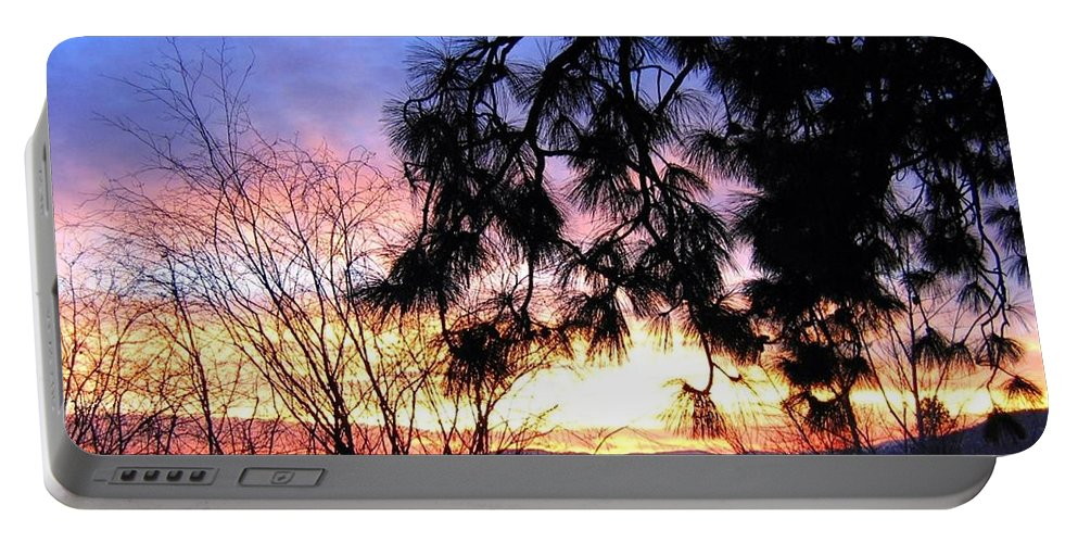 Magnificent Portable Battery Charger featuring the photograph Magnificent Winter Sky by Will Borden