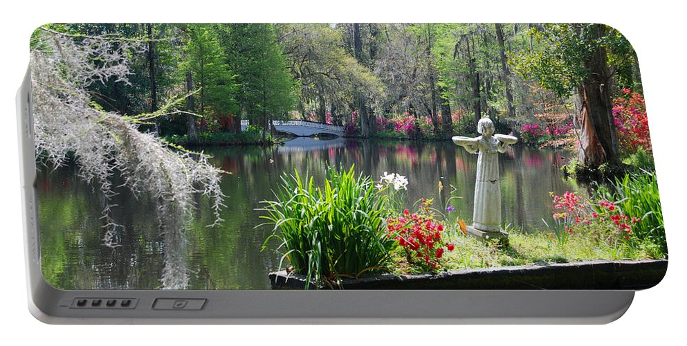 Photography Portable Battery Charger featuring the photograph Magnolia Gardens In Charleston by Susanne Van Hulst