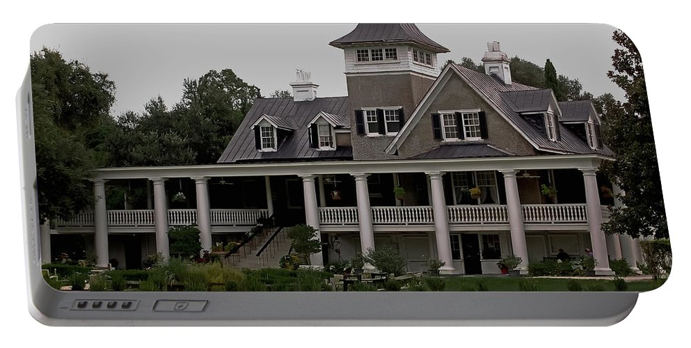 House Portable Battery Charger featuring the photograph Magnolia Plantation Home by DigiArt Diaries by Vicky B Fuller