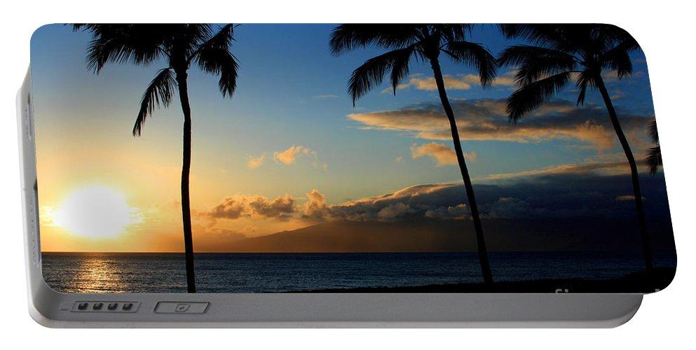 Aloha Portable Battery Charger featuring the photograph Mai Ka Aina Mai Ke Kai Kaanapali Maui Hawaii by Sharon Mau