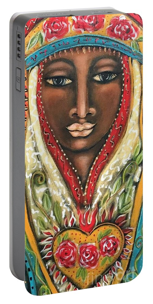 Queen Portable Battery Charger featuring the painting Maia by Maya Telford