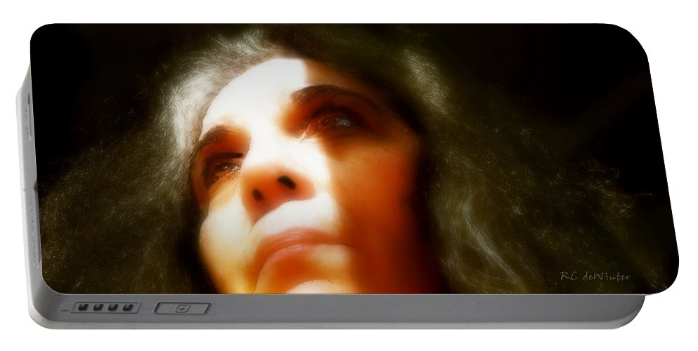 Portrait Portable Battery Charger featuring the painting Maid Of Constant Sorrow  Self-portrait by RC DeWinter