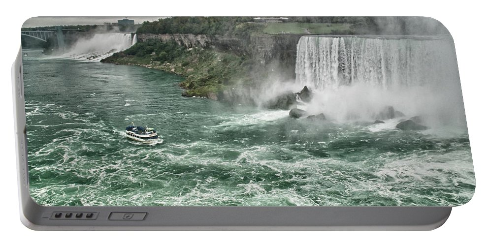 Maid Of The Mist Portable Battery Charger featuring the photograph Maid Of The Mist 8971 by Guy Whiteley