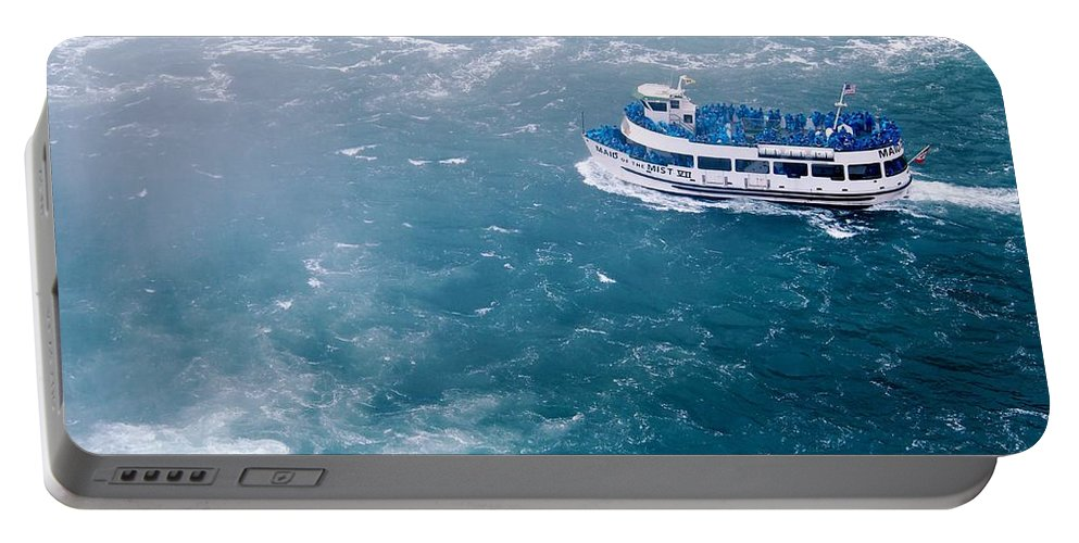 Niagara Falls Portable Battery Charger featuring the photograph Maid Of The Mist American Side by Jennifer Craft