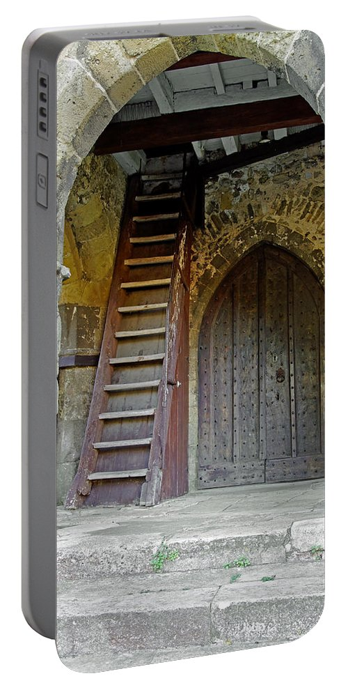 Isle Of Wight Portable Battery Charger featuring the photograph Main Entrance To St Mary's Church At Brading by Rod Johnson