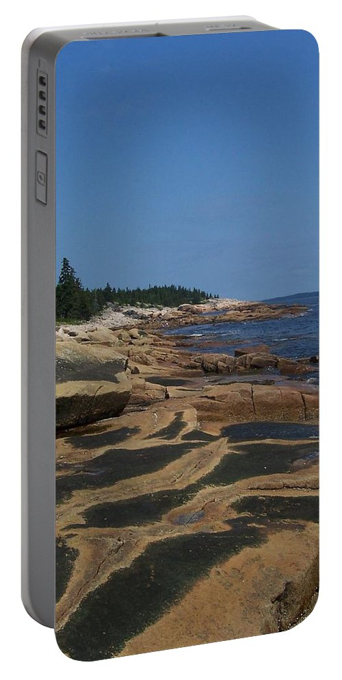 Maine Portable Battery Charger featuring the photograph Maine Coast by Lisa Kane
