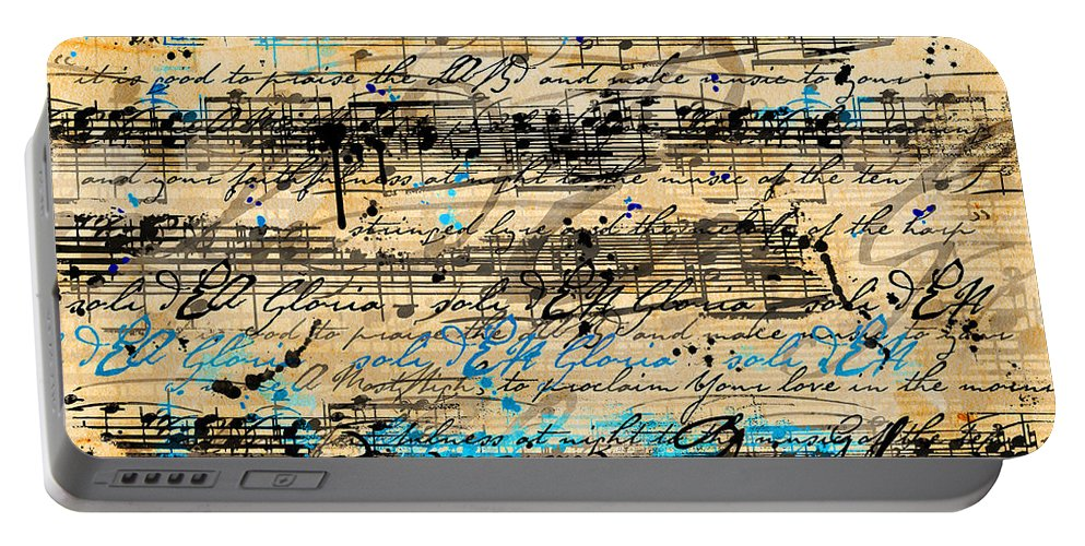 Music Portable Battery Charger featuring the digital art Maiorem by Gary Bodnar