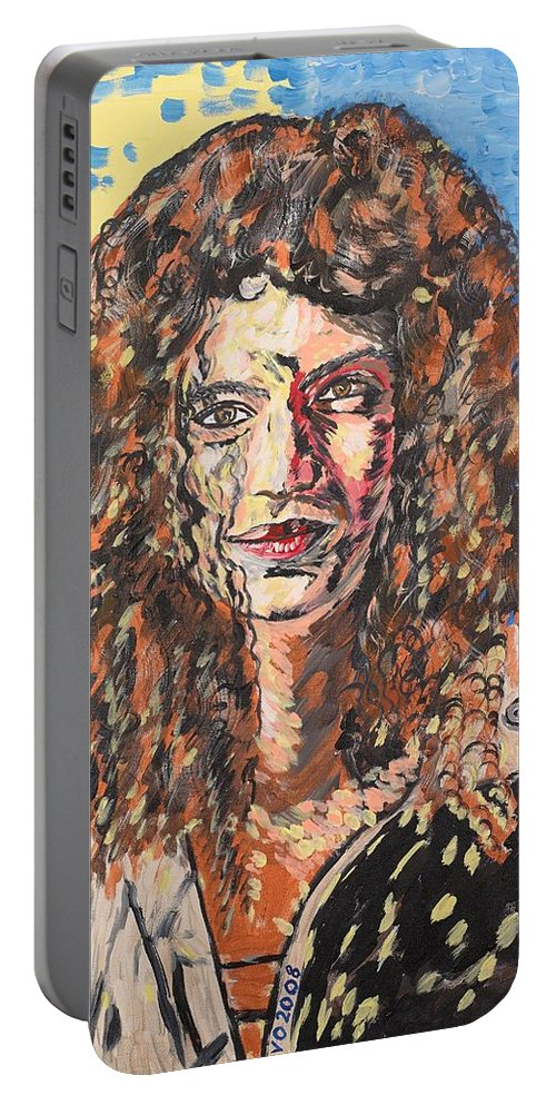 Human Portable Battery Charger featuring the painting Maja by Valerie Ornstein