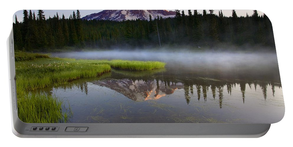 Lake Portable Battery Charger featuring the photograph Majestic Dawn by Mike Dawson