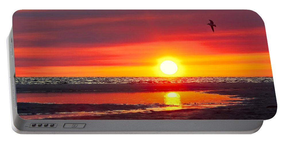 Sunset Portable Battery Charger featuring the photograph Majestic Moments by Janet Fikar