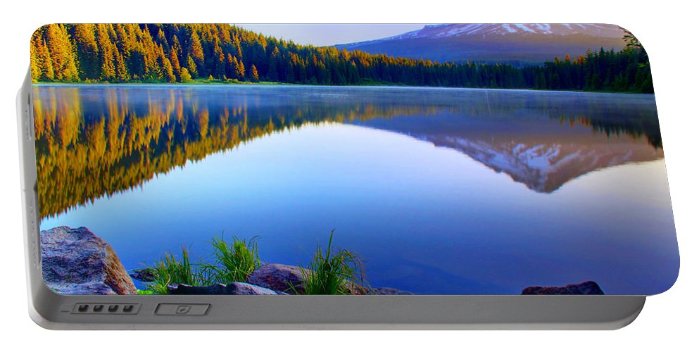Lake Portable Battery Charger featuring the photograph Majestic Reflection by John Absher
