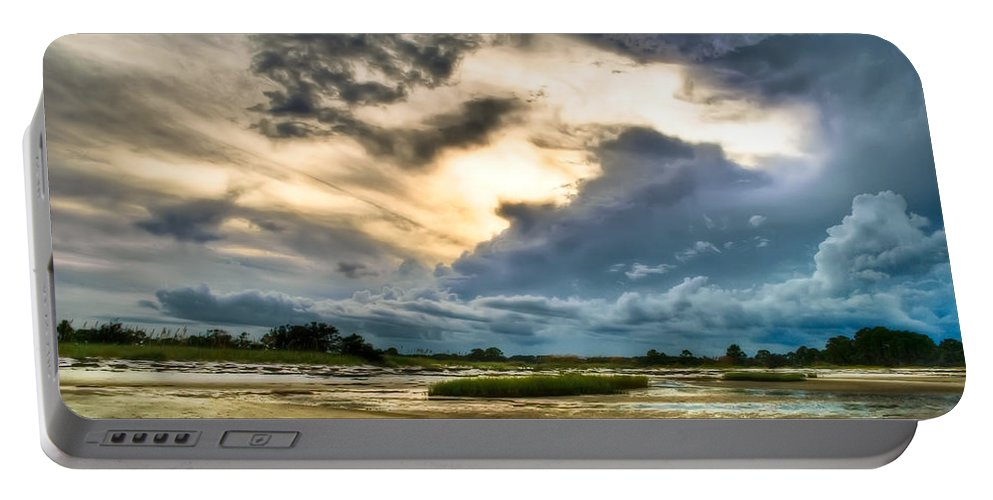 Beach Portable Battery Charger featuring the photograph Majestic Sky by Rich Leighton
