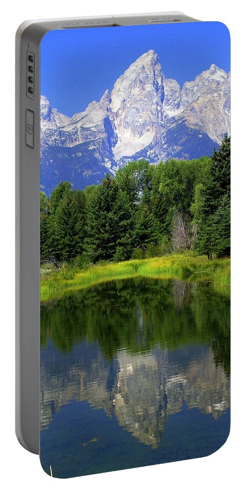Grand Teton National Park Portable Battery Charger featuring the photograph Majestic Tetons by Marty Koch