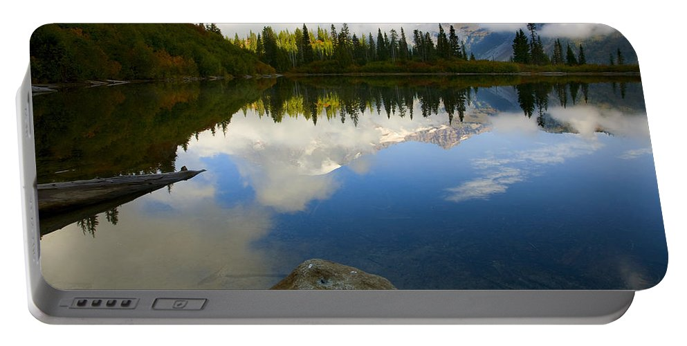 Mt. Rainier Portable Battery Charger featuring the photograph Majesty Revealed by Mike Dawson