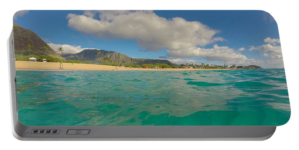 Makaha Portable Battery Charger featuring the photograph Makaha Blues by Megan Martens