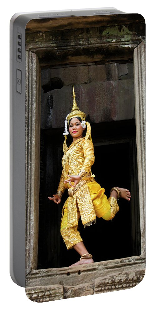 Asia Portable Battery Charger featuring the photograph Makala Dancer In Cambodia by Michele Burgess