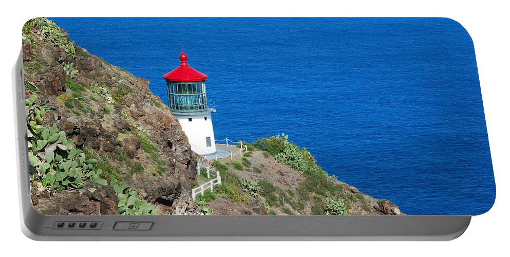 Landscape Portable Battery Charger featuring the photograph Makapu'u Lighthouse by Michael Peychich