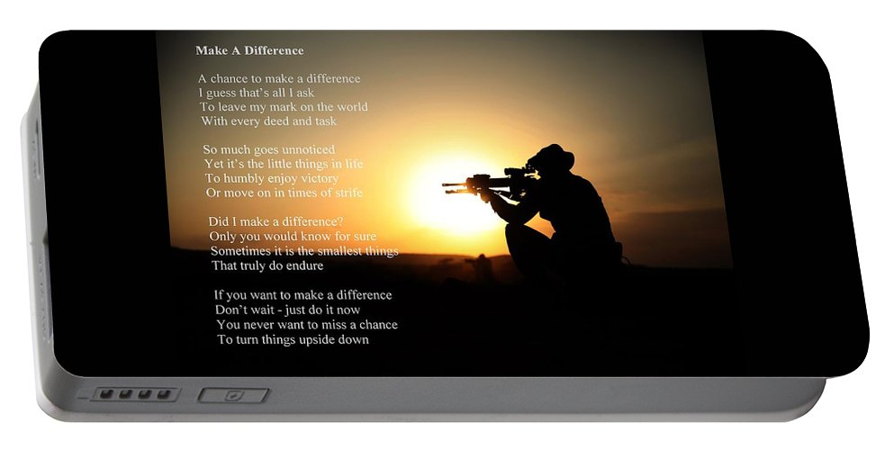 Military Portable Battery Charger featuring the photograph Make A Difference by Robert Longley