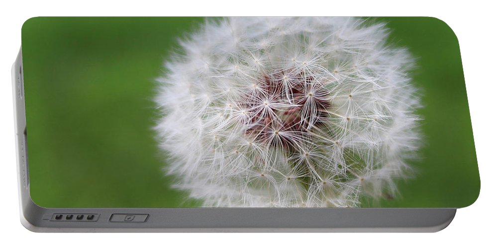 Dandelion Portable Battery Charger featuring the photograph Make A Wish by Erin Donalson