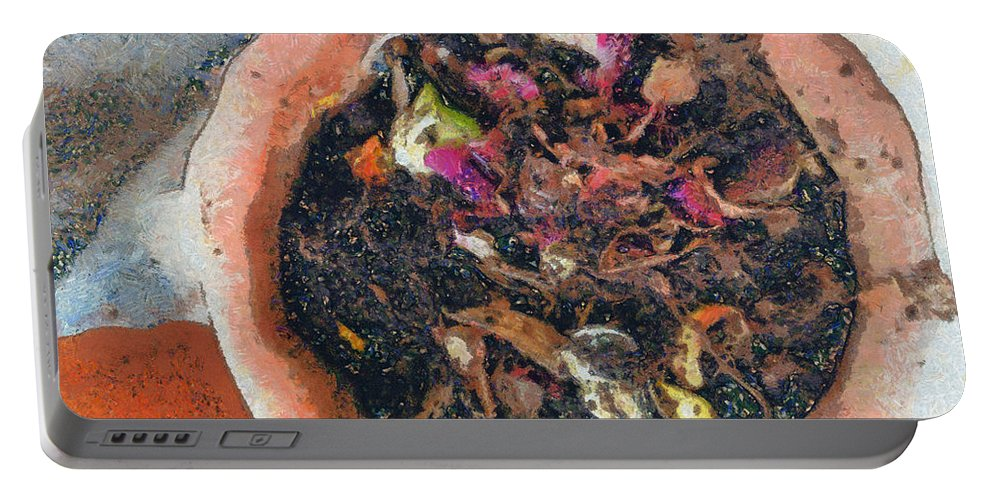 Compost Portable Battery Charger featuring the photograph Making Compost Out Of Garbage by Ashish Agarwal