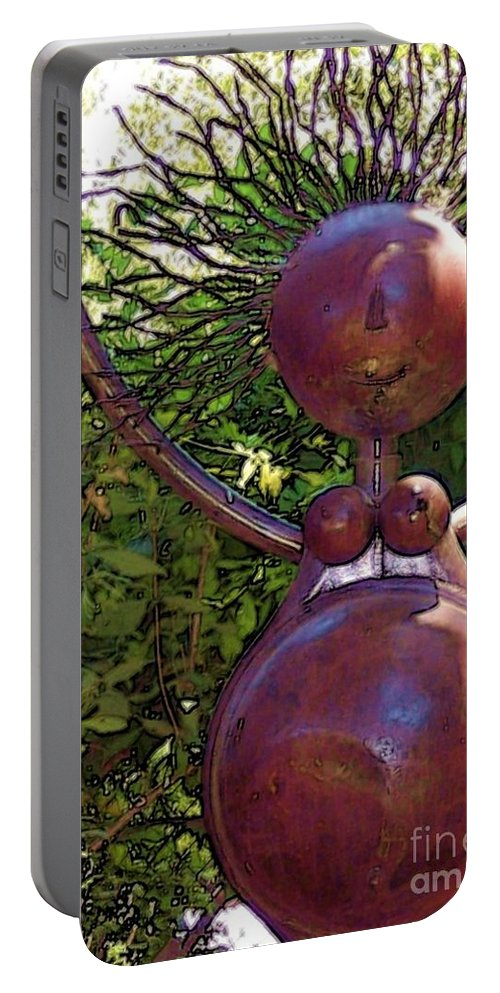 Sculpture Portable Battery Charger featuring the photograph Mama Tool by Debbi Granruth