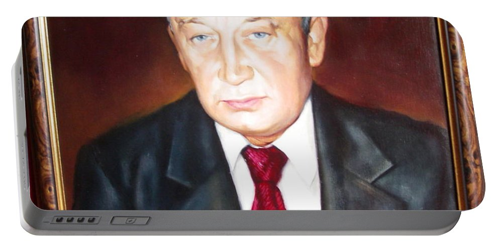 Art Portable Battery Charger featuring the painting Man 1 by Sergey Ignatenko