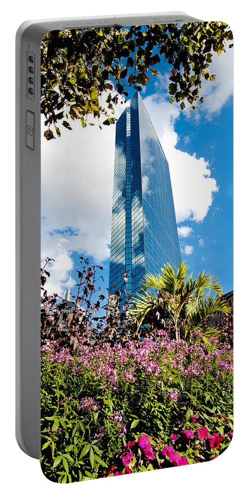 Boston Portable Battery Charger featuring the photograph Man And Nature by Greg Fortier