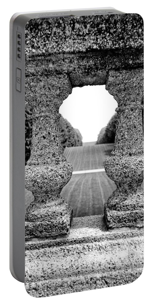 Stone Portable Battery Charger featuring the photograph Man Frames Nature by Greg Fortier