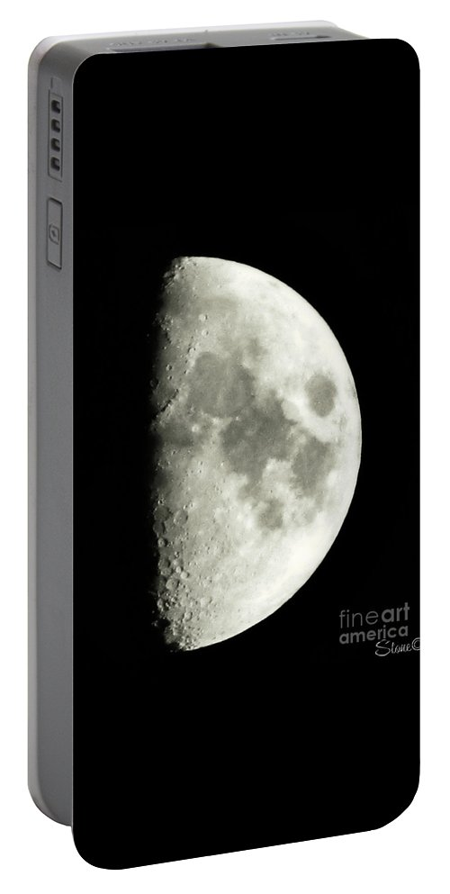 Lunar Portable Battery Charger featuring the photograph Man In The Moon by September Stone