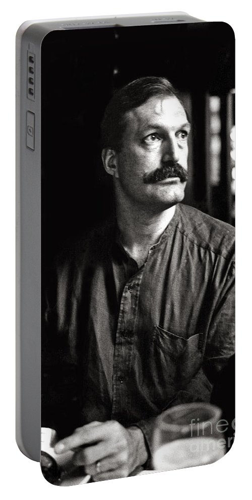 Man Portable Battery Charger featuring the photograph Man With Mustache by Madeline Ellis