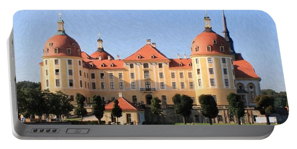 Castle Portable Battery Charger featuring the painting Mancion - Id 16217-202733-1393 by S Lurk