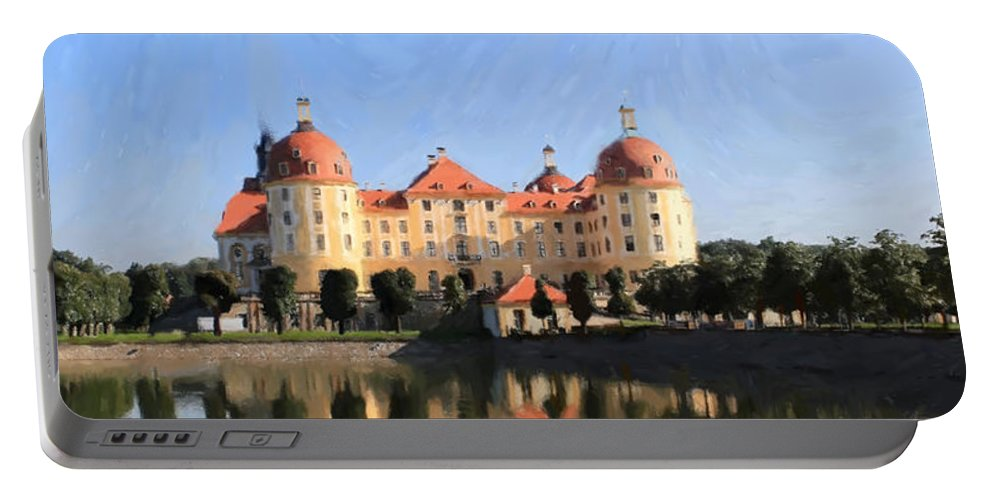 Castle Portable Battery Charger featuring the painting Mancion - Id 16217-202751-2168 by S Lurk