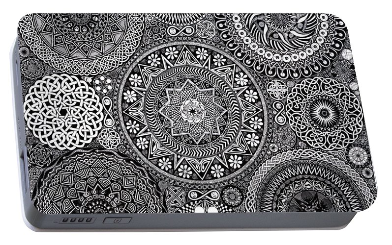 Mandala Bouquet Portable Battery Charger for Sale by Matthew Ridgway