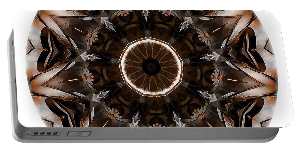 Talisman Portable Battery Charger featuring the digital art Mandala - Talisman 3705 by Marek Lutek