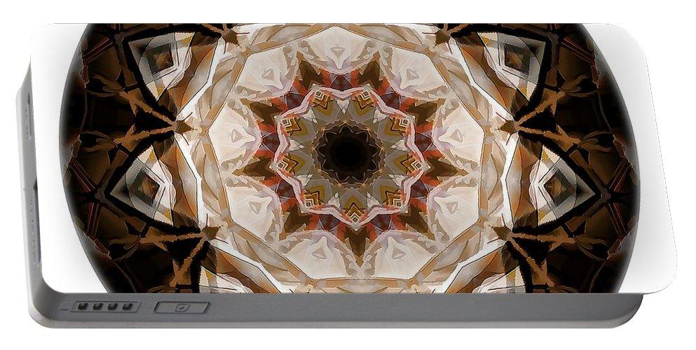 Talisman Portable Battery Charger featuring the digital art Mandala - Talisman 3707 by Marek Lutek