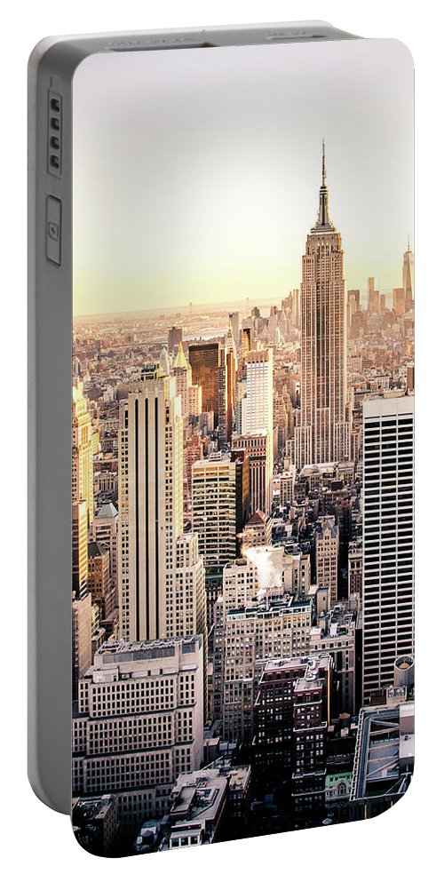 Nyc Portable Battery Charger featuring the photograph Manhattan by Michael Weber