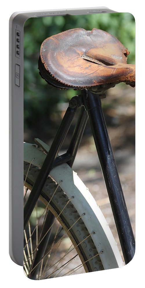 Bike Portable Battery Charger featuring the photograph Many Miles by Lauri Novak