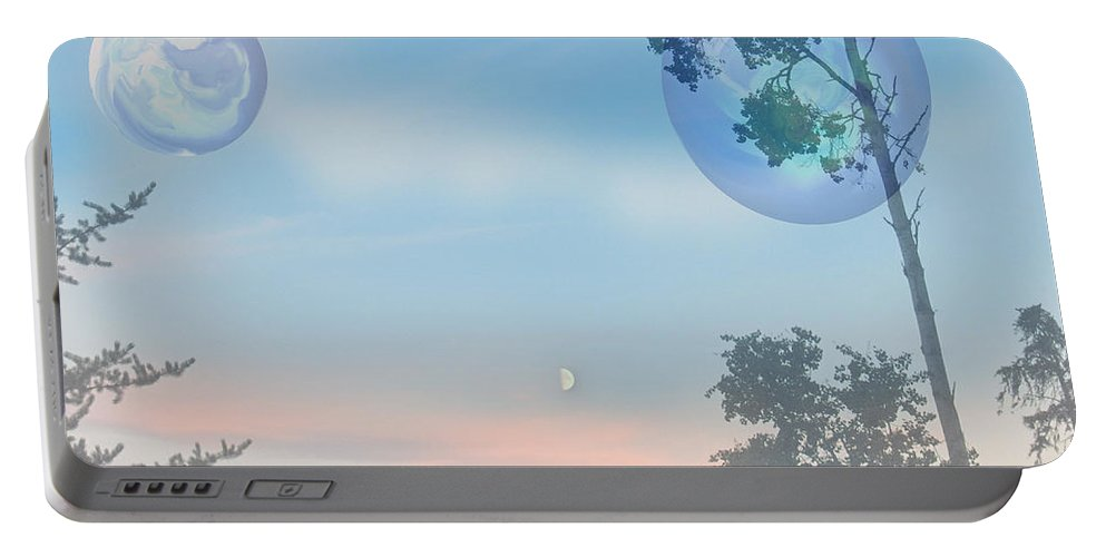 Moon Portable Battery Charger featuring the photograph Many Moons by Andrea Lawrence